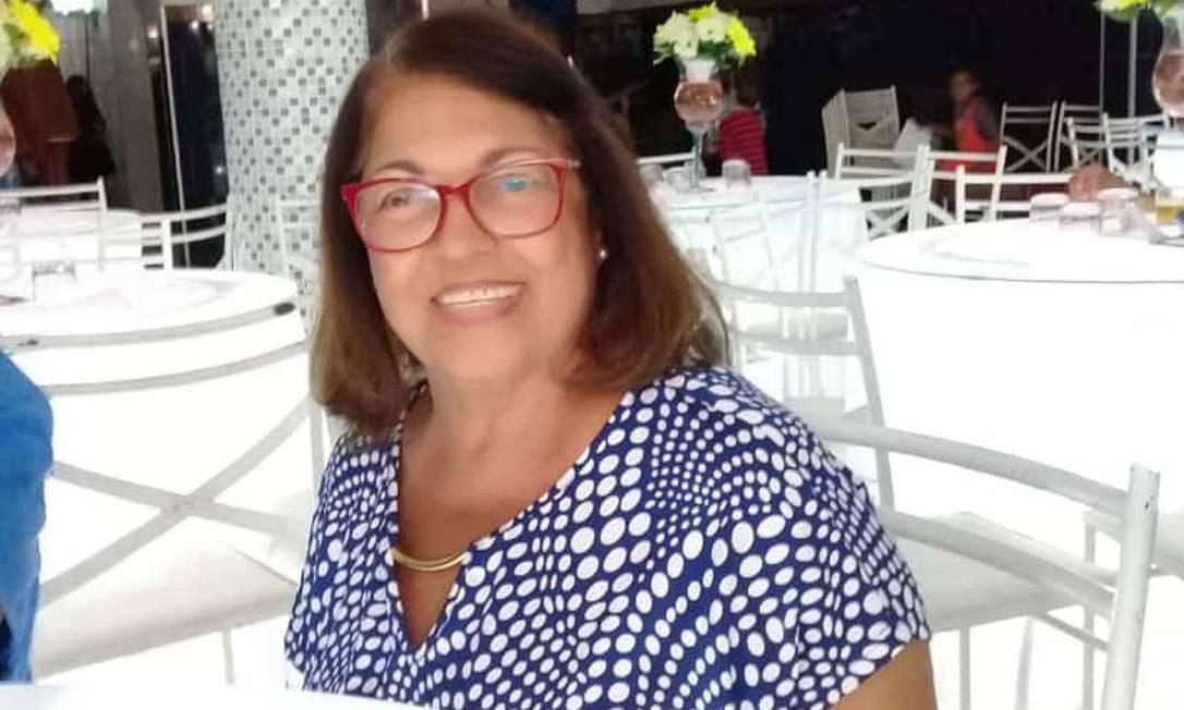 Glória Maria estava voltando do supermercado na hora do acidente Foto: Arquivo pessoal