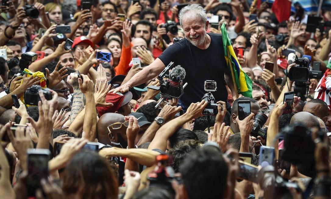 O ex-presidente Luiz Inácio Lula da Silva em São Bernardo do Campo Foto: Pedro Vilela / Getty Images