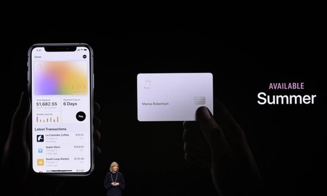 O Apple Card é uma parceria entre a Apple, que fornece a tecnologia, e o Goldman Sachs, responsável pelas decisões de crédito Foto: AFP