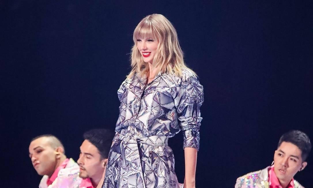A cantora americana Taylor Swift: garota-propaganda do Dia dos Solteiros. Foto: STR / AFP