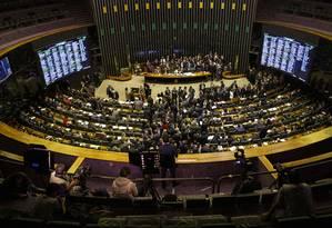 Plenário da Câmara dos Deputados Foto: Daniel Marenco / Agência O Globo