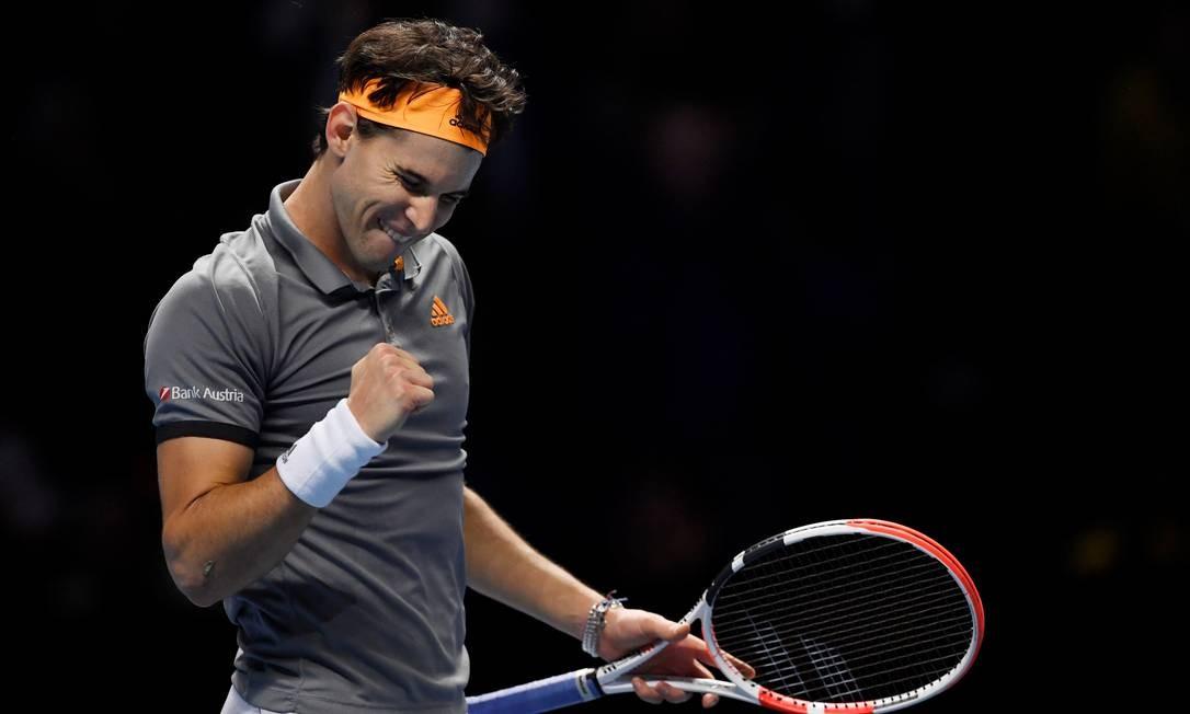 Thiem estreou com vitória sobre Federer no ATP Finals Foto: TONY O'BRIEN / REUTERS