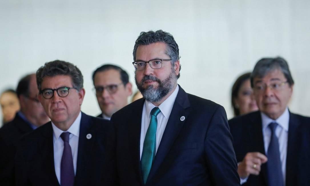Chanceler Ernesto Araújo, durante reunião do Grupo de Lima em Brasília Foto: ADRIANO MACHADO / REUTERS / 08-11-2019