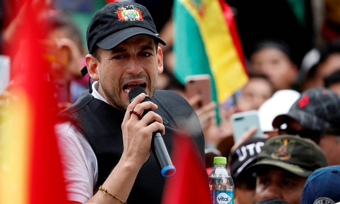 Líder da oposição na Bolívia, Luis Fernando Camacho, se encontrou com Ernesto Araújo em maio Foto: CARLOS GARCIA RAWLINS / REUTERS