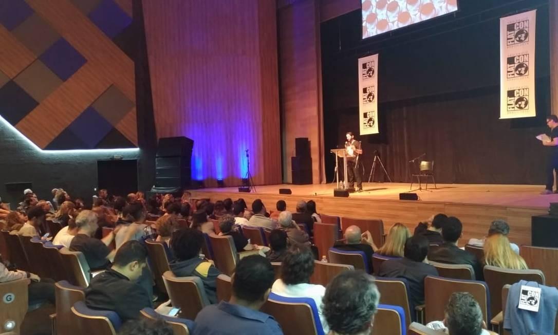 Primeira Convenção Nacional da Terra Plana foi realizada neste domingo em São Paulo Foto: Guilherme Caetano / Agência O Globo