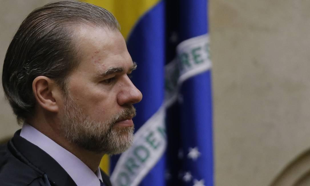 Em seu voto, o presidente do STF disse que a prisão não é claúsula pétrea e sim o juízo da culpa Foto: Jorge William / Agência O Globo