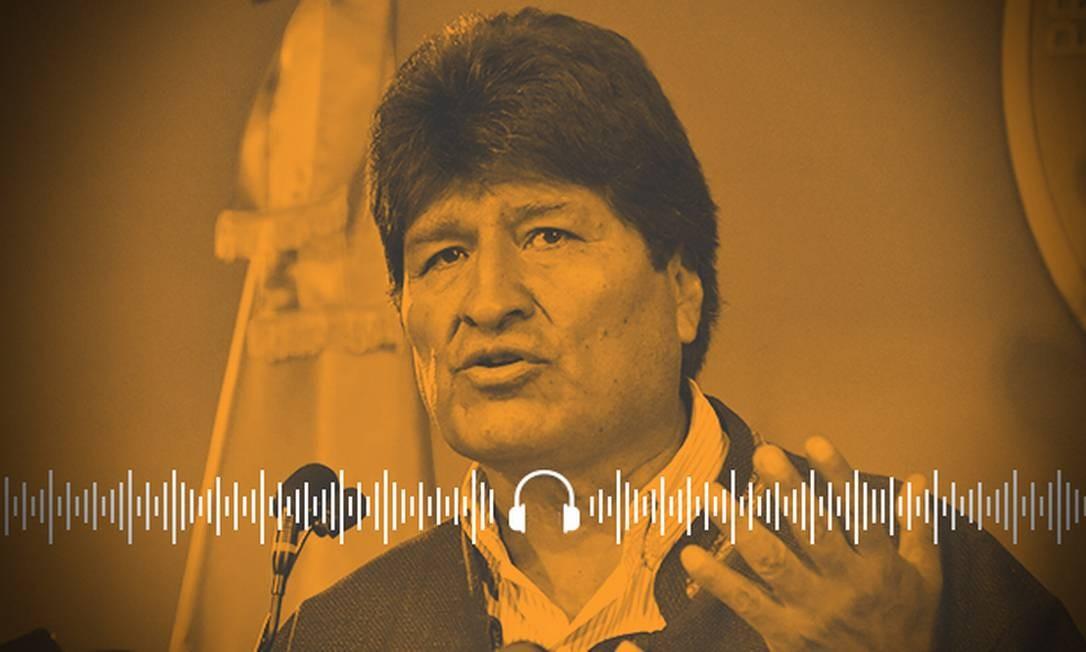 Evo Morales renunciou após Organização dos Estados Americanos identificar grave irregularidade em sua quarta reeleição Foto: Arte