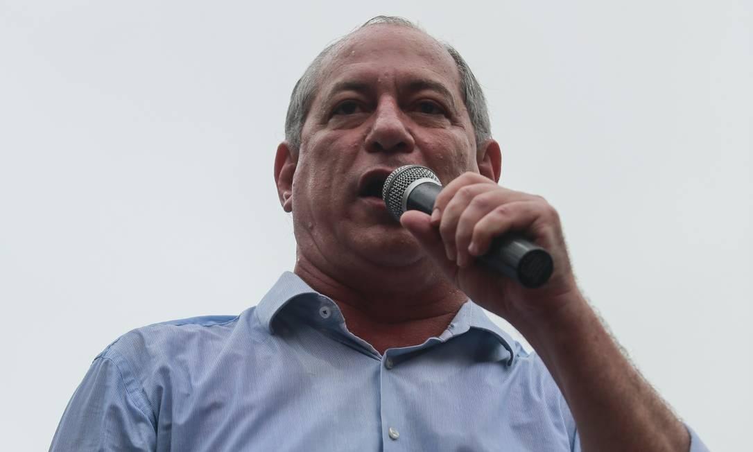 Ciro Gomes, candidato a presidente pelo PDT em 2018 Foto: Brenno Carvalho / Agência O Globo