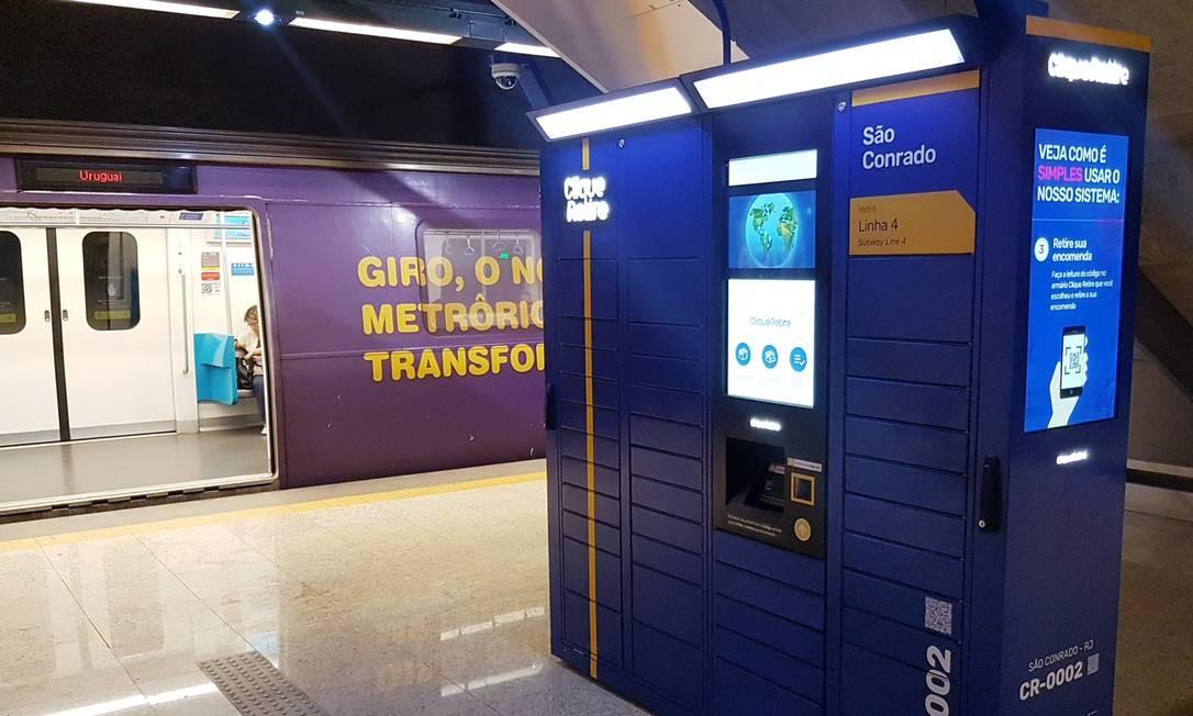 E-Box foi instalado em 38 estações de metrô do Rio Foto: Divulgação
