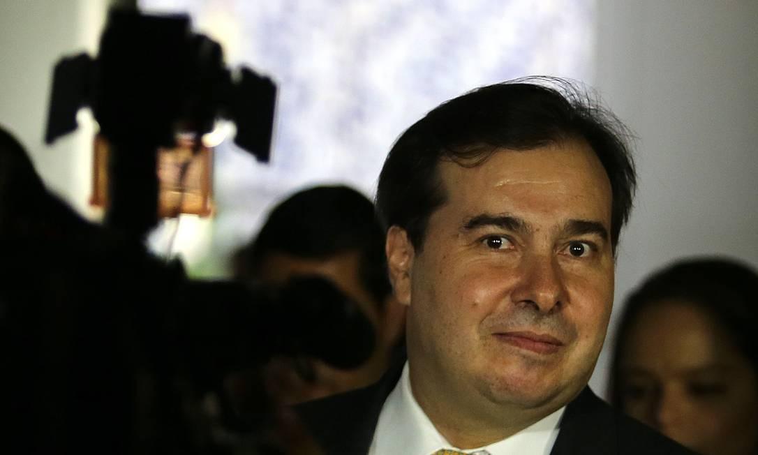 Presidente da Câmara Rodrigo Maia Foto: Jorge William / Agência O Globo/11-02-2019