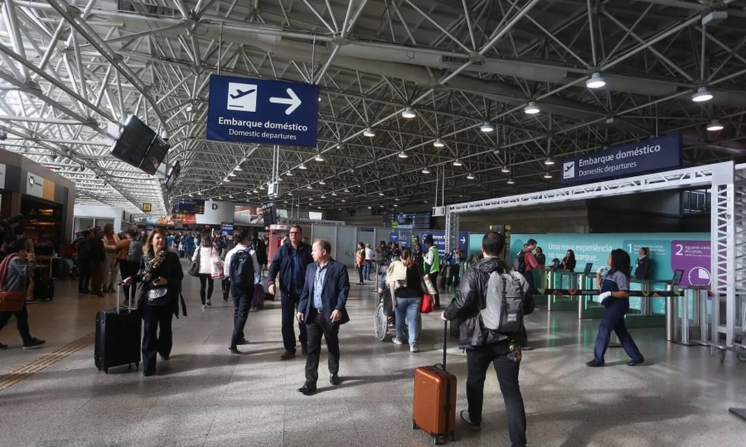 Aeroporto do Galeão: medidas para atrair mais voos no Rio. Foto: Fabiano Rocha / Fabiano Rocha