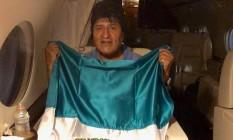 Evo deixa Bolívia Foto: Reprodução Twitter