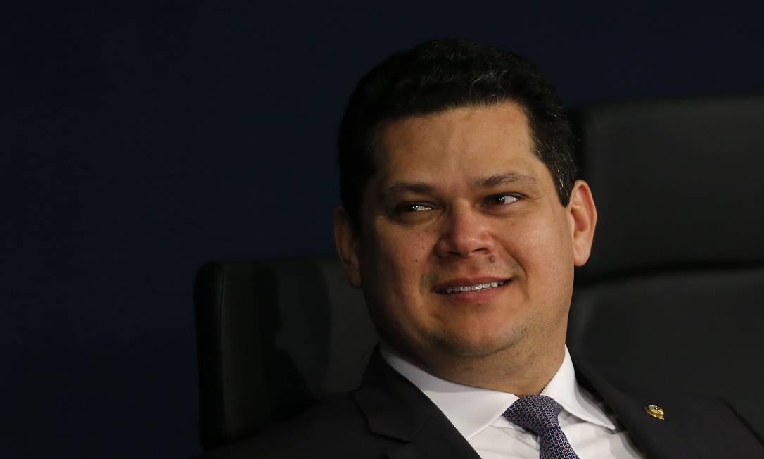 Alcolumbre disse que só vai pautar o que tiver 'conciliação da maioria' Foto: Jorge William / Agência O Globo
