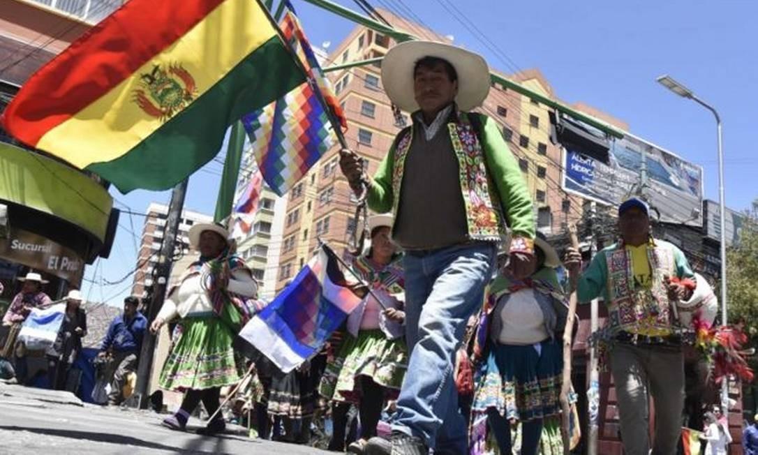 Bolívia enfrenta onda de manifestações populares nas últimas semanas Foto: AFP/Getty Images