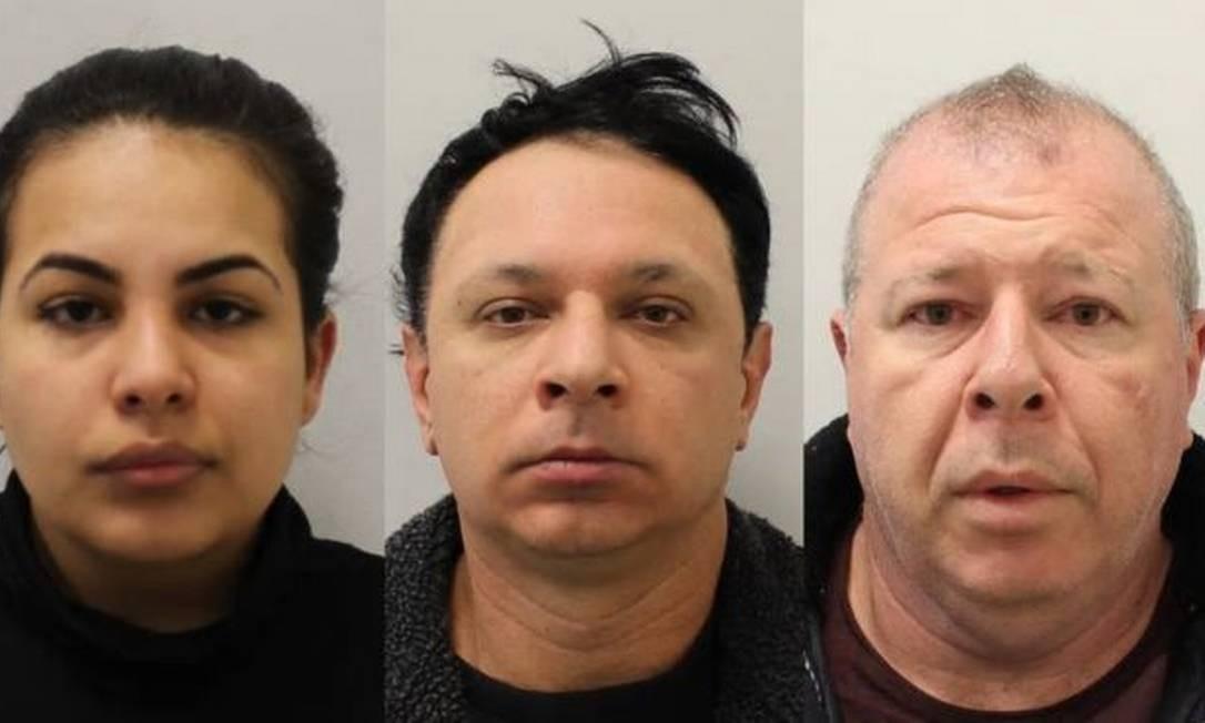 Três brasileiros - Flavia, Renato e Raul Sacchi - eram os cabeças de uma quadrilha que explorava mulheres, vendia drogas e controlava bordéis clandestinos em Londres, segundo a polícia Foto: LONDON METROPOLITAN POLICE