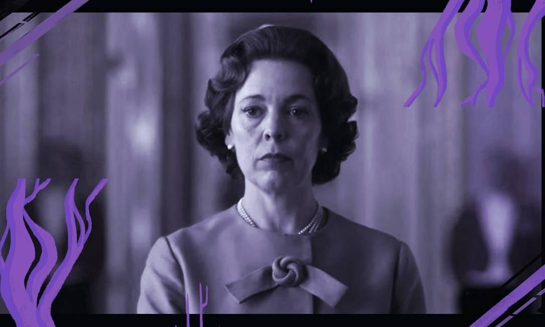 """A atriz Olivia Colman como a rainha Elizabeth II na série """"The Crown"""" Foto: Divulgação/Netflix"""