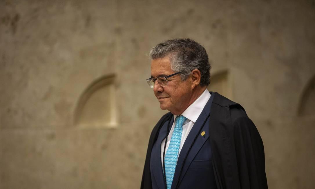 Ministro Marco Aurélio Mello, do Supremo Tribunal Federal Foto: Daniel Marenco / Agência O Globo