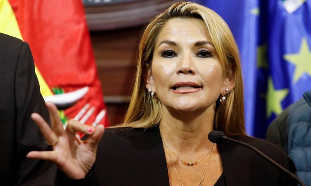 Jeanine Añez aguarda sua confirmação como presidente interina da Bolívia Foto: MARCO BELLO / REUTERS