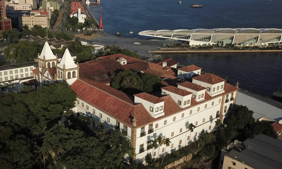 Mosteiro de São Bento e Museu do Amanhã unem passado e presente da arquitetura do Rio Foto: Custódio Coimbra / Agência O Globo