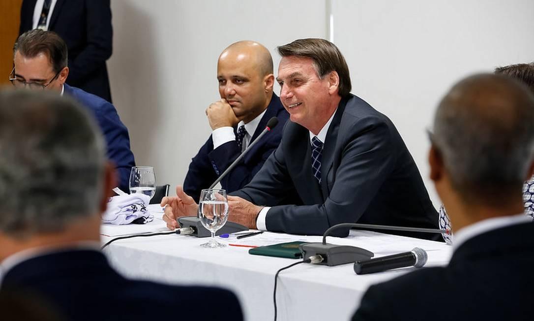 O presidente Jair Bolsonaro durante reunião comdeputados Foto: Carolina Antunes/PR