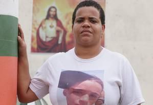 Luciana Pimenta, mãe de Kauan, cobra investigação do assassinato do filho Foto: Cléber Júnior / Agência O Globo