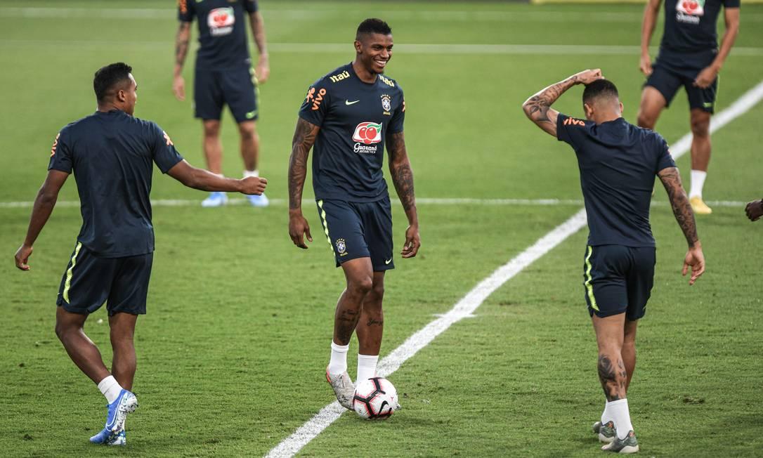 Wesley Moraes no treino da seleção brasileira Foto: Pedro Martins / Pedro Martins / MowaPress