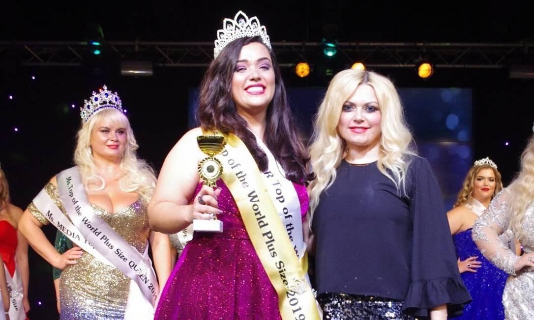 Brasileira venceu Miss Top of the World Plus Size 2019 Foto: Reprodução