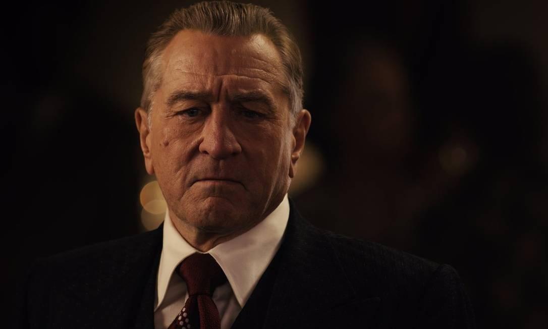 Robert De Niro em cena do filme 'O irlandês' Foto: Divulgação