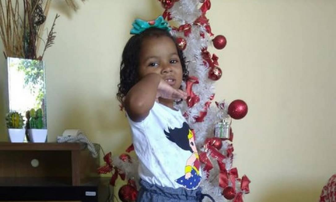 Ketellen, de 5 anos, foi morta quando ia para a escola Foto: Reprodução