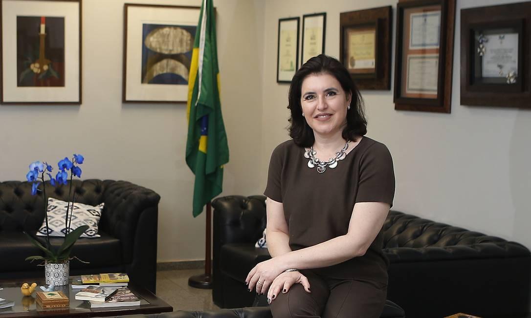 A senadora Simone Tebet Foto: Jorge William / Agência O Globo