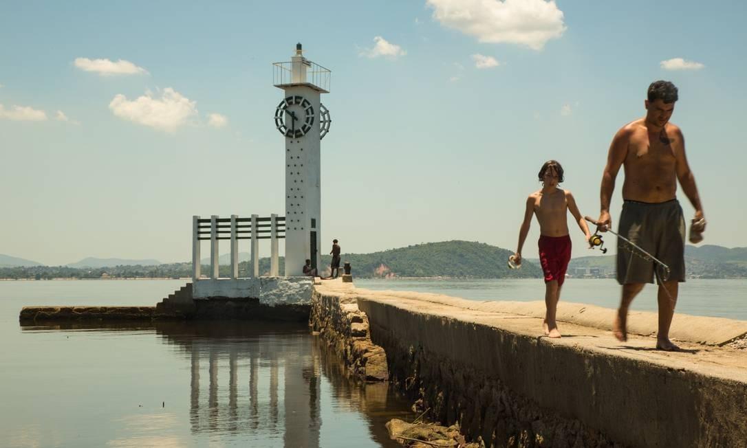 Relógio da Mesbla: o monumento que fica em um farol da Marinha é um bom fundo para selfies Foto: Brenno Carvalho / Agência O Globo