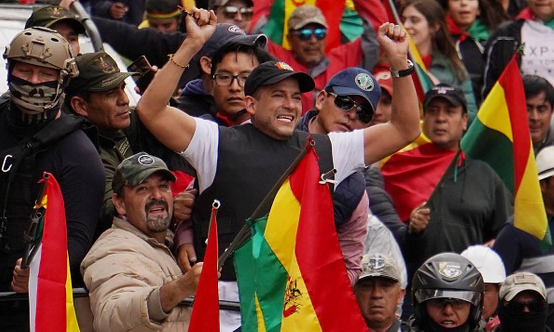 Luis Fernando Camacho: 'Isto aqui não é Venezuela nem Cuba' Foto: Javier Mamani / Getty Images