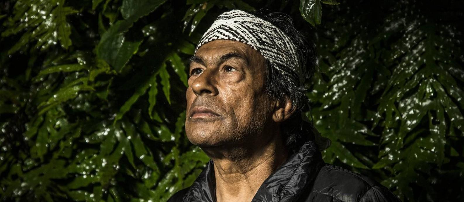 O ambientalista Ailton Krenak, autor de 'Ideias para adiar o fim do mundo' Foto: Guito Moreto / Agência O Globo