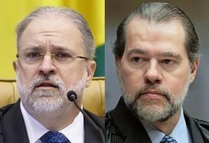 Augusto Aras e Dias Toffoli Foto: Agência Senado e Rosinei Coutinho / STF