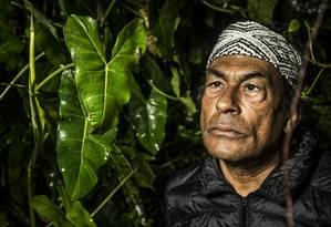 O líder indígena Ailton Krenak. Foto: Guito Moreto / Agência O Globo