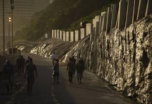 Construção, no alto do Vidigal, estava prevista em intervenções emergenciais Foto: Gabriel Monteiro / Agência O Globo