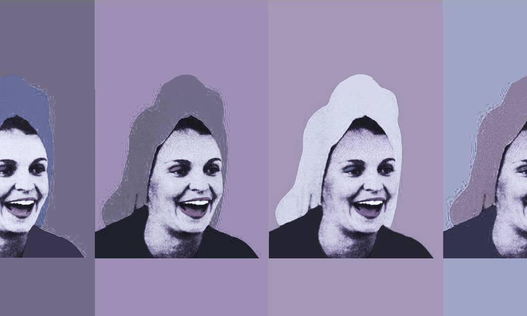 """Leila Diniz na célebre foto de toalha na cabeça, feita por Paulo Garcez para """"O Pasquim"""" Foto: Arte de André Mello sobre fotos de Paulo Garcez"""