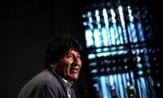Ex-presidente boliviano Evo Morales em entrevista na Cidade do México Foto: EDGARD GARRIDO / REUTERS