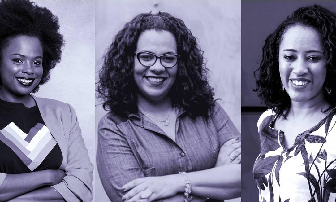 A partir da esquerda, Luana Genot, Patricia Santos e Liliane Rocha Foto: Divulgação
