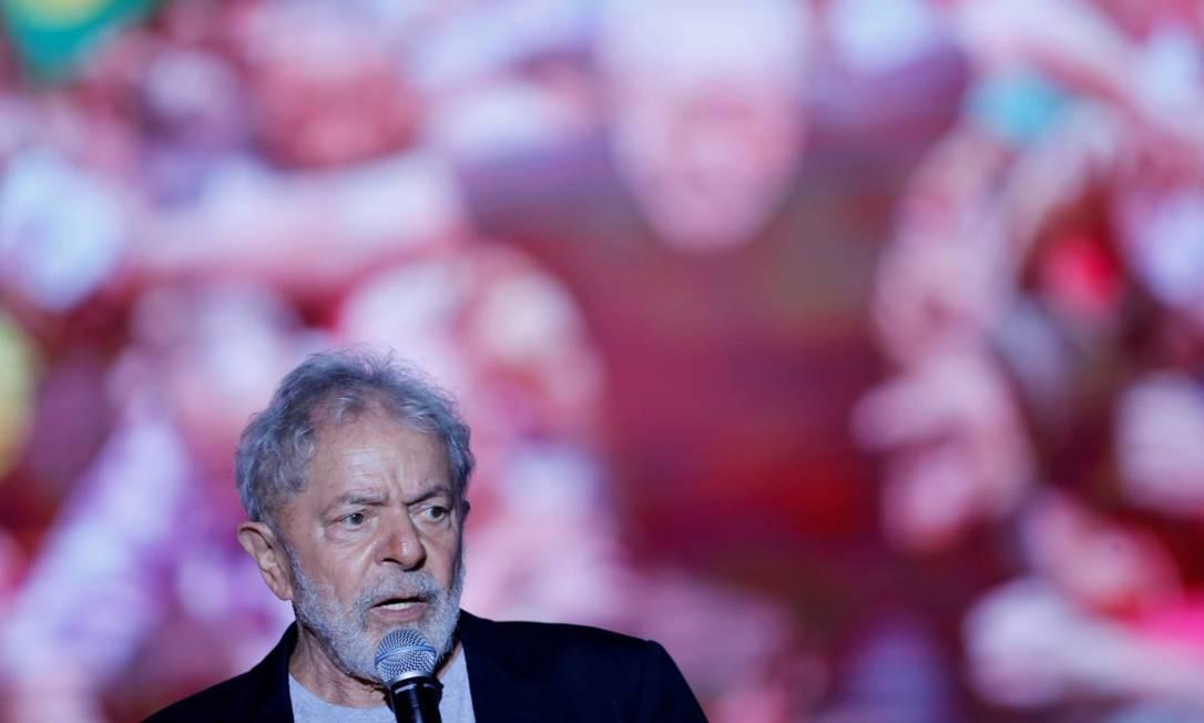 Lula discurso em evento no Recife Foto: ADRIANO MACHADO / REUTERS