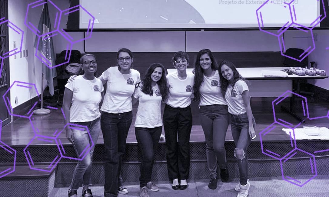 Participantes do projeto Meninas! Vamos fazer Ciência!, do Cefet Rio Foto: Divulgação