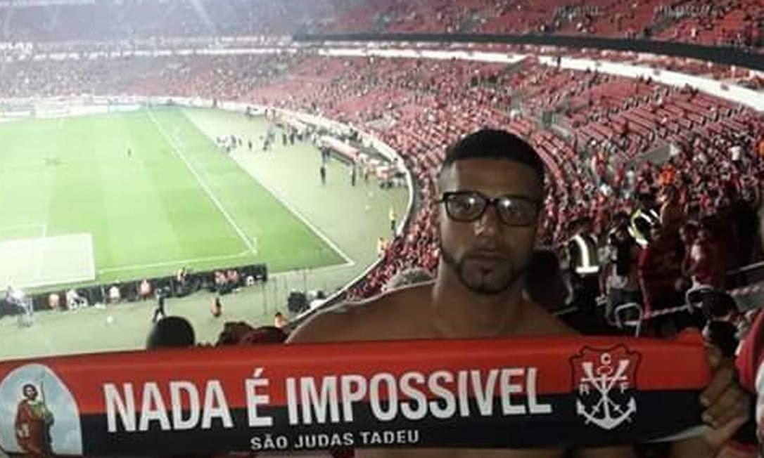 Wellington Souza no estádio Beira-Rio nas quartas de final da Libertadores Foto: Arquivo pessoal