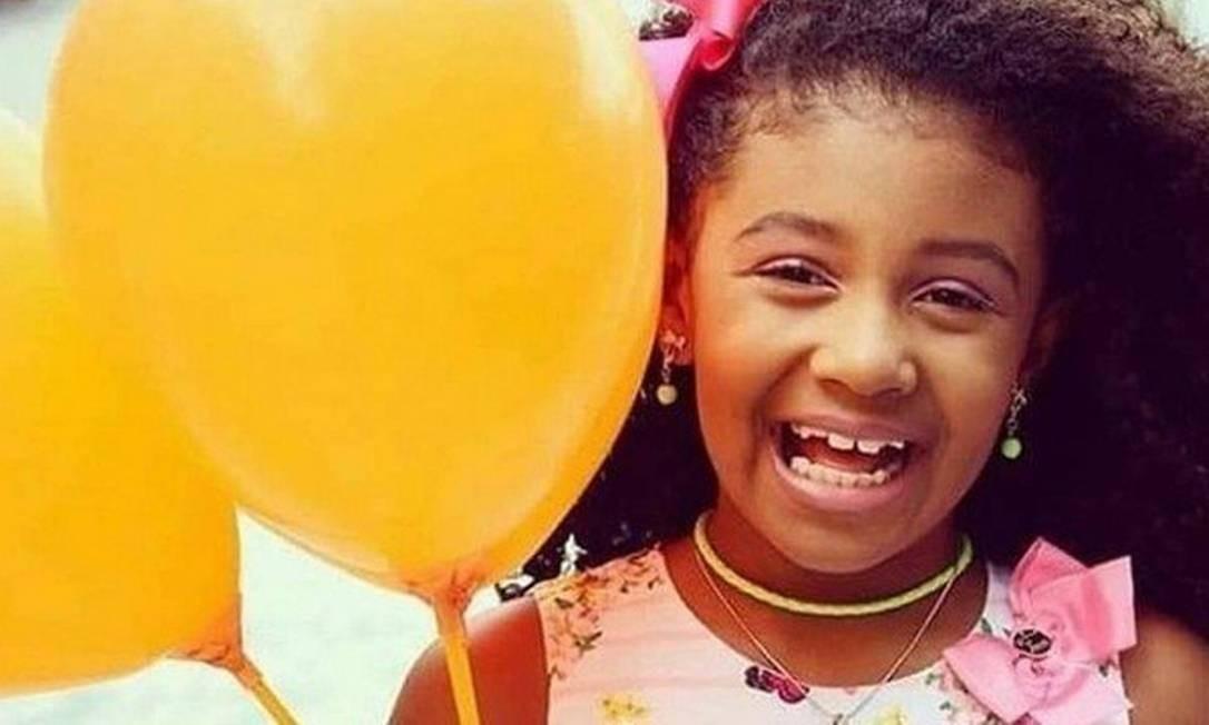 Menina Ágatha, que tinha 8 anos Foto: Reprodução