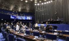 Plenário do Senado: possíveis mudanças em PEC. Foto: Waldemir Barreto / Agência O Globo
