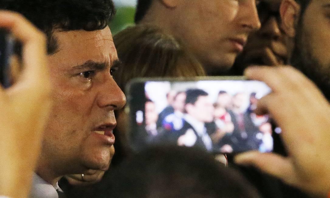 Sergio Moro se reúne com o presidente da Câmara dos Deputados para discutir o Pacote Anticrime Foto: Jorge William / Agência O Globo