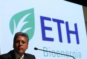 Em 2010, José Carlos Grubisich estava à frente da ETH Bioenergia Foto: Eliária Andrade/Agência O Globo