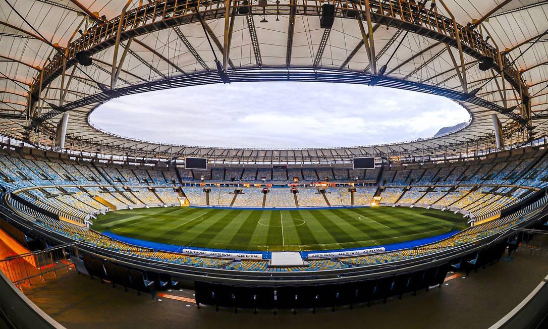 Estádio do Maracanã é um dos locais em que partida será exibida Foto: Marcelo Cortes / Agência O Globo