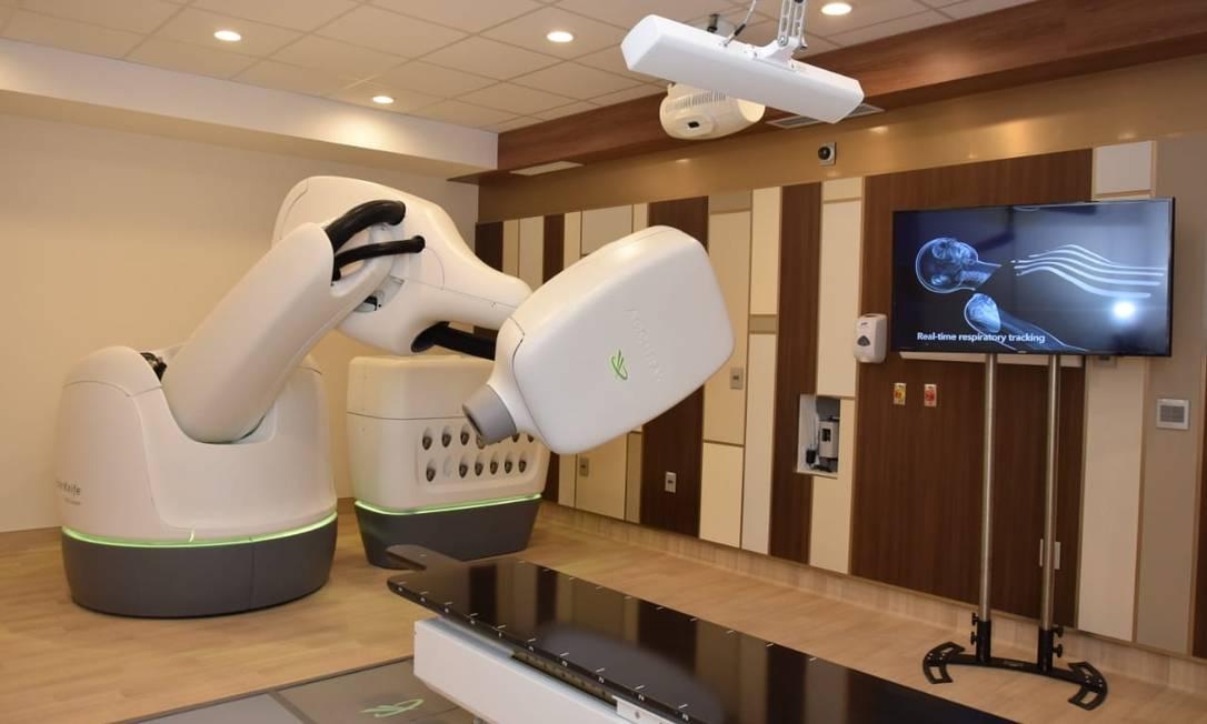CyberKnife evita que outros órgãos e partes saudáveis da próstata sejam atingidos durante a radioterapia Foto: Divulgação