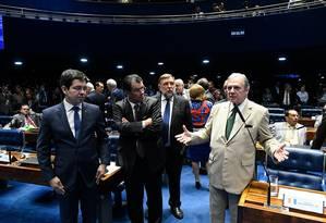 O senador Tasso Jereissati, relator da PEC Paralela, defendeu acordo para transição da mudança de cálculo da aposentadoria em cinco anos Foto: Roque de Sá / Agência Senado