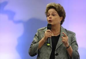 A ex-presidente Dilma Roussef durante evento na Argentina Foto: Agustin Marcarian / Reuters